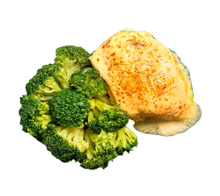 Треска в омлете с брокколи