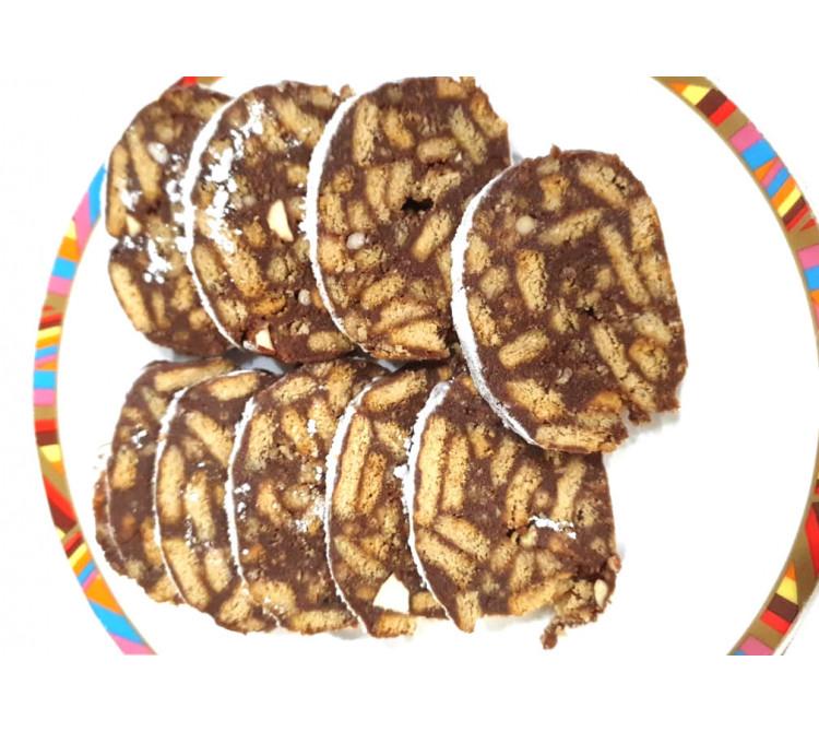 Доставка шоколадных колбасок с орехами
